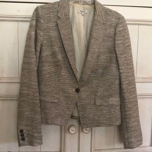 Madewell shrunken sandspun blazer jacket - size 8